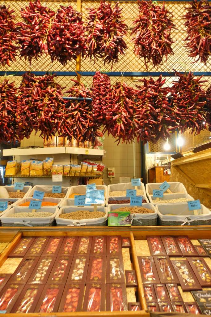 Chilli stand at Central Market Hall