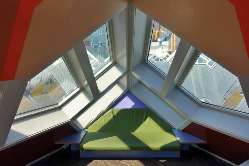 Rooftop room of cube house, Rotterdam