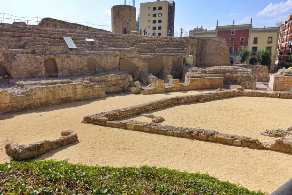 Part of track of Tarragona Roman Circus
