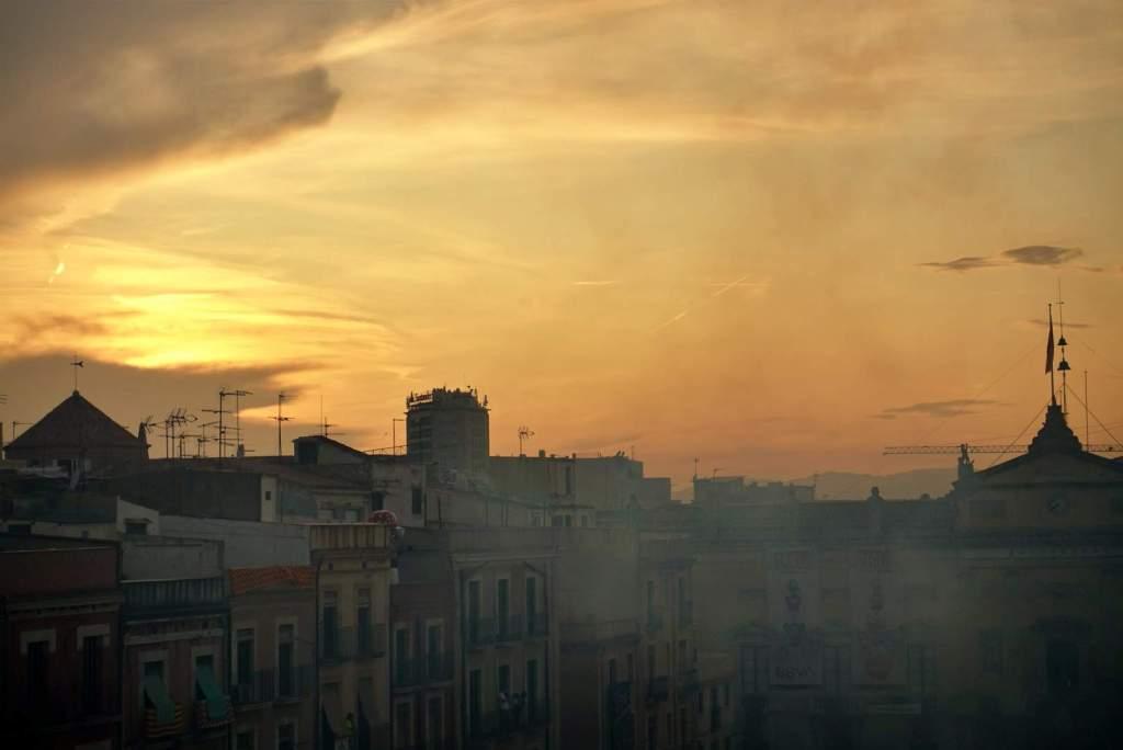 Tarragona sunset over Placa de la Font