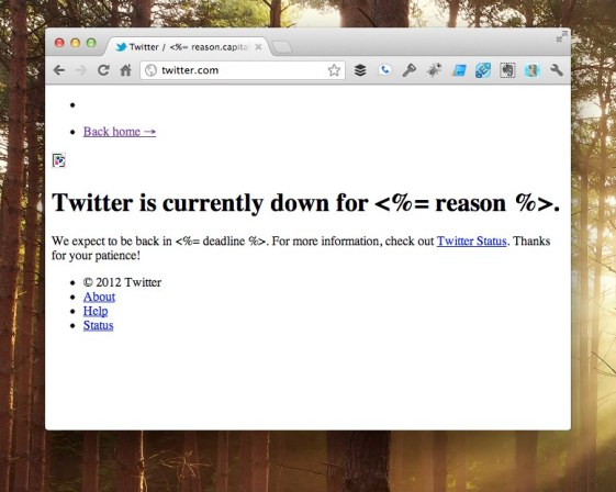 Social site Twitter is down