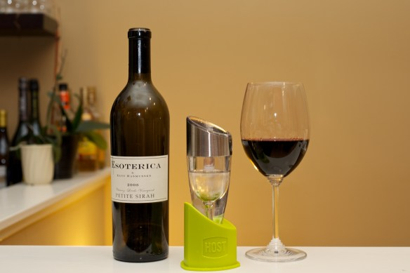 Host Adjustable Wine Aerator and Esoterica Petite Syrah