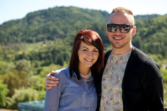 Alex and Joey at Sbragia Vineyards