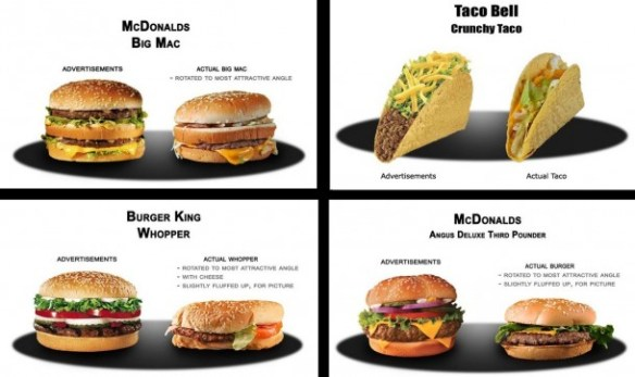 Fast Food Ads vs Reality