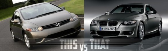Honda-Civic-versus-BMW-3-Series-Coupe
