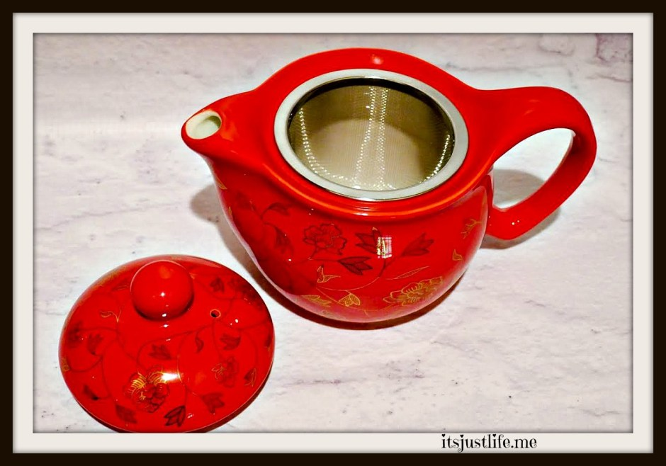 The petite teapot is the typical size of a true Chinese teapot that is constantly refilled with hot water. The steeping basket is an added bonus.