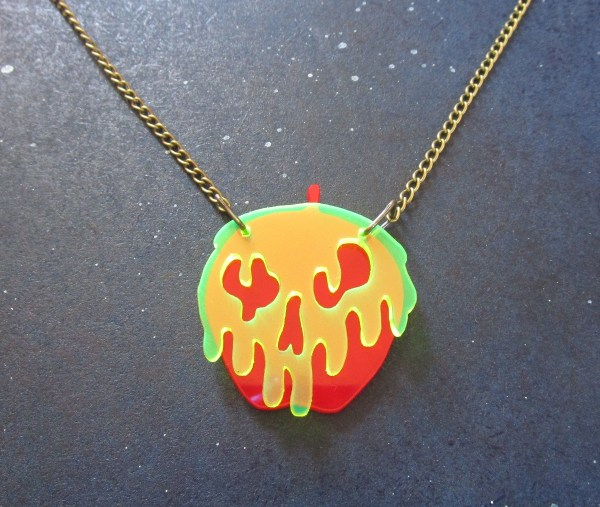red poison apple snow white necklace