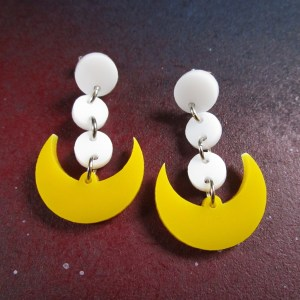 Sailor Moon Cosplay Earrings on space background