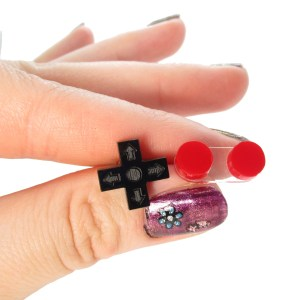 d pad button controller stud earrings mismatch earrings nes controller buttons