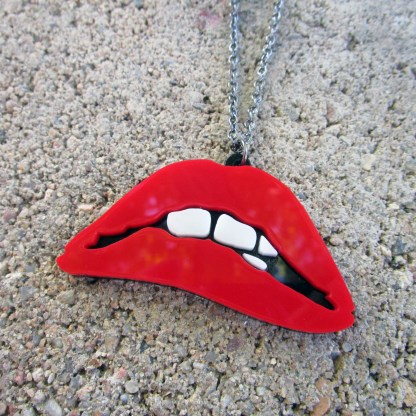 rocky horror picture show lips on concrete