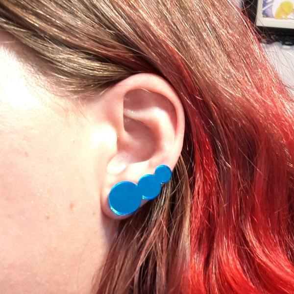 sailor mercury blue bubbles stud earrings costume cosplay jewelry