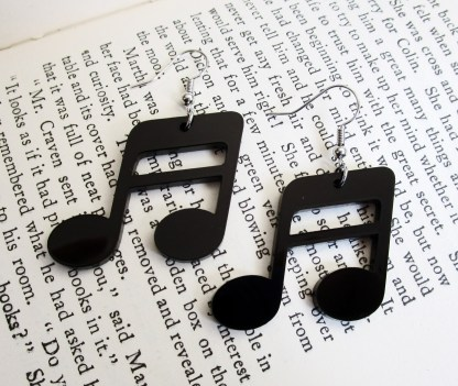 semiquaver music note earrings