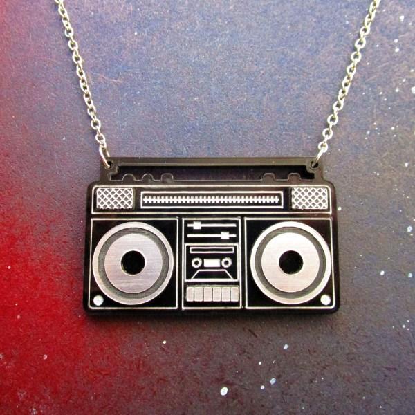 boom box necklace