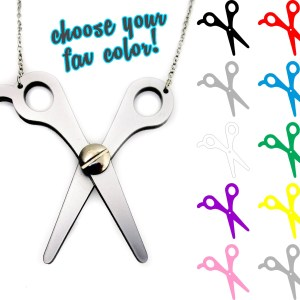 pick color of scissors hair craft cosplay sewing scissors necklace gift