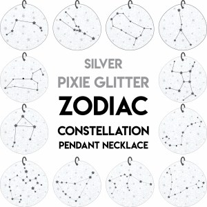 illustration of zodiac sign constellation star pendant necklaces
