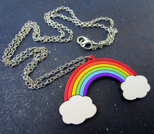 rainbow with chain to show detail