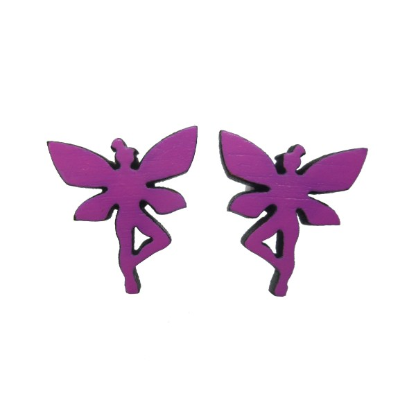 purple fairy pixie stud earrings