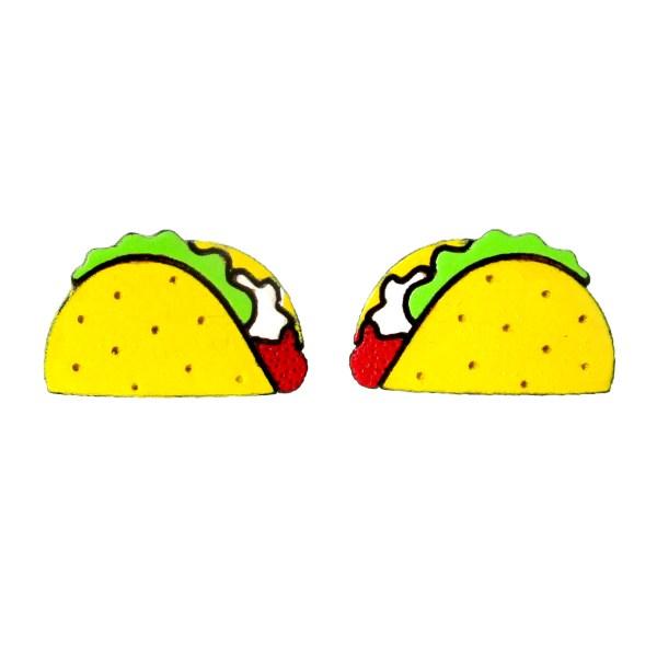 2 opposite taco earring designs