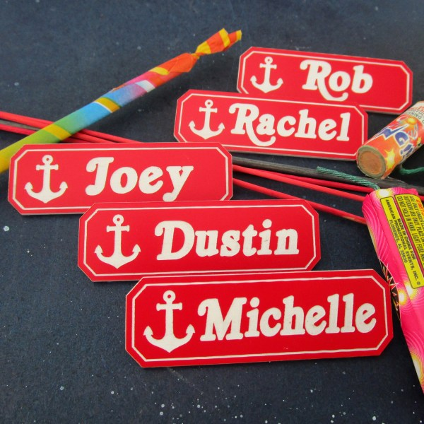 multiple names to have custom name tag made that looks like scoops ahoy name bade from stranger things