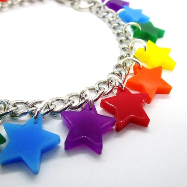 star rainbow charm bracelet