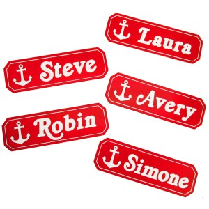 scoops ahoy style employee badge pin steve and robin with other names you can customize from stranger things