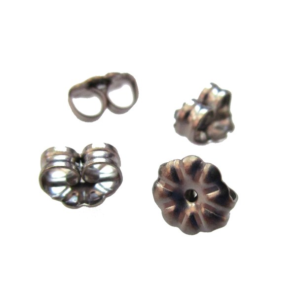 Push Friction Back Earring Nut Nickle free TITANIUM buttlerfly for stud posts