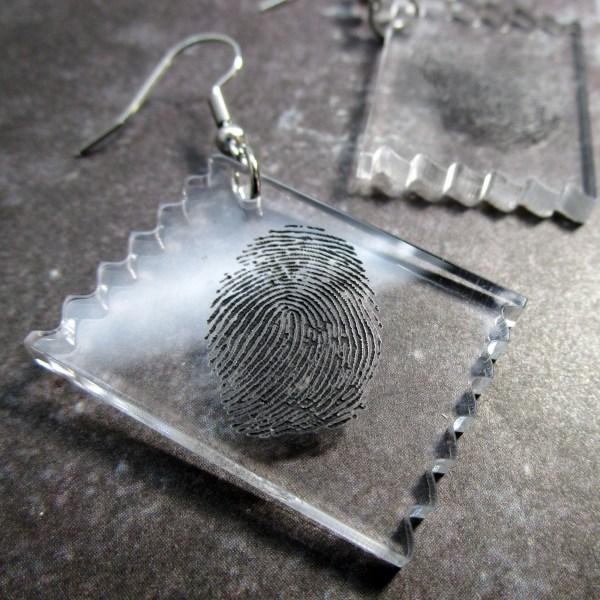 CSI Fingerprint Finger Print Tape Lift Funny Crime Scene Investigator Clue Murder Mystery Evidence Costume Jewelry
