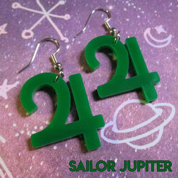 Sailor Moon Senshi Scouts Symbol Cosplay Costume Jewelry Saturn Mars Mercury Chibi Jupiter Symbol Shape Jewelry