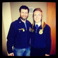Check out my older brother Rusty-- still able to fit into his FFA jacket.