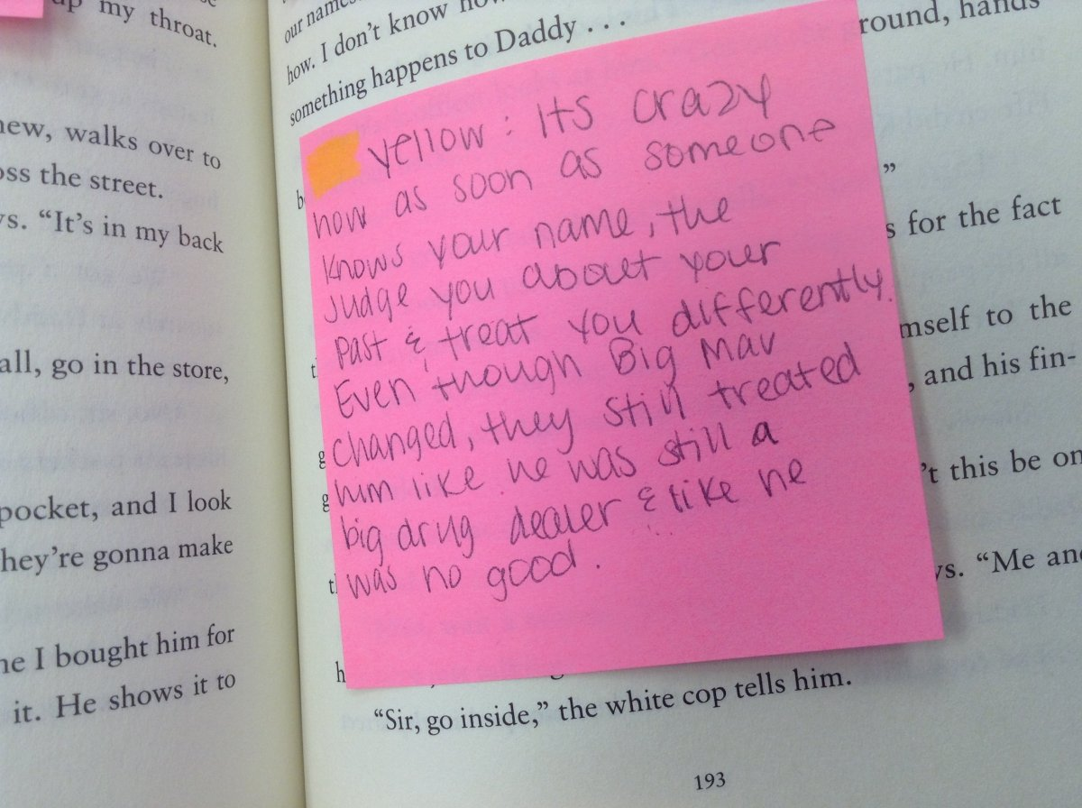 Annotation of The Hate U Give