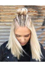 festival hair braids hair charms