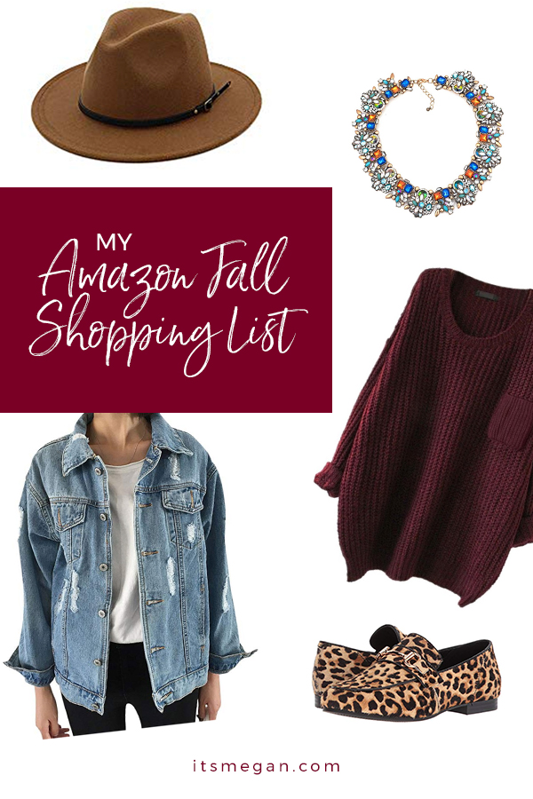 My Amazon Fall Shopping List  |  It's Megan Blog  |  #shopping #fall #amazonprime #amazon #woolhat