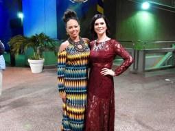 Melissa Megan with American recording artist Elle Varner