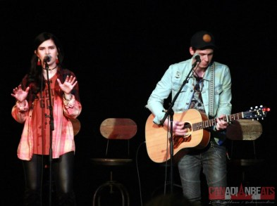 Melissa Megan and Derek Caven perform at the Country Music Association of Ontario's New Faces Showcase in Ottawa, ON! Photo Courtesy of Canadian Beats!