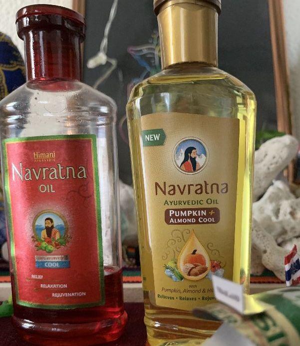 赤いオイルとパンプキンシードオイルのナブラトナ オイル