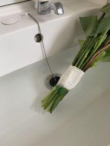 花の水切り