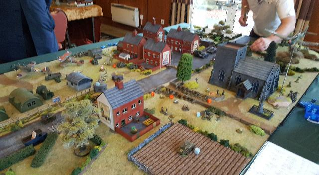 A game of Bolt Action in progress
