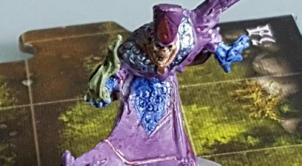Tristane Ollivane Minaiture from Descent, painted as Skeletor