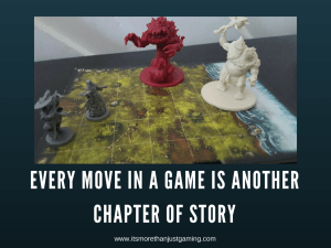 Every move in a game is another chapter