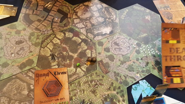 The Dead Throne Game Board, set up for adventurers to explore