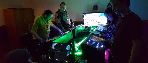 Myself and a ew others playing Artemis at the UK Games Expo