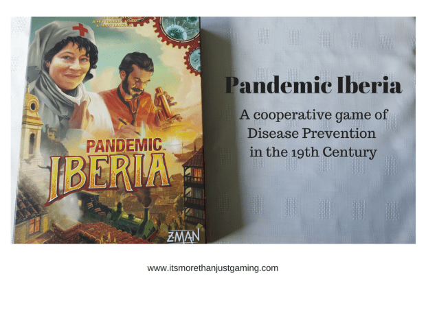 Pandemic Iberia is a clone of the game Pandemic by Matt Leacock, where players must work as a team to thwart the spread of disease on the Iberian Peninsula in the 19th Century