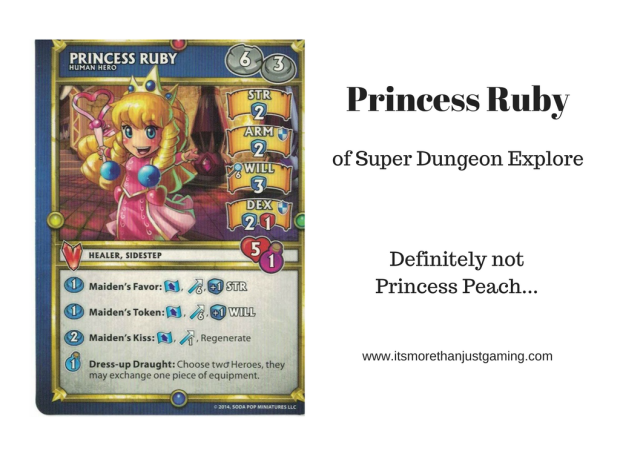 Princess Ruby from Super Dungeon Explore looks suspiciously like Princess Peach of Super Mario Brothers