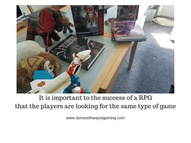 It is important to the success of an rpg that players are looking for the same type of game