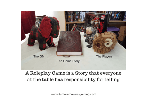 A Roleplay Game is a Story that everyone at the table has responsibility for telling