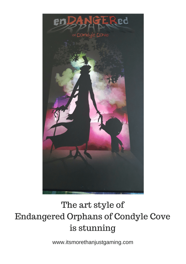The art style of Endangered Orphans of Condyle Cove is stunning