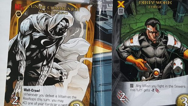 Moon Knight and Forge in Marvel Legendary