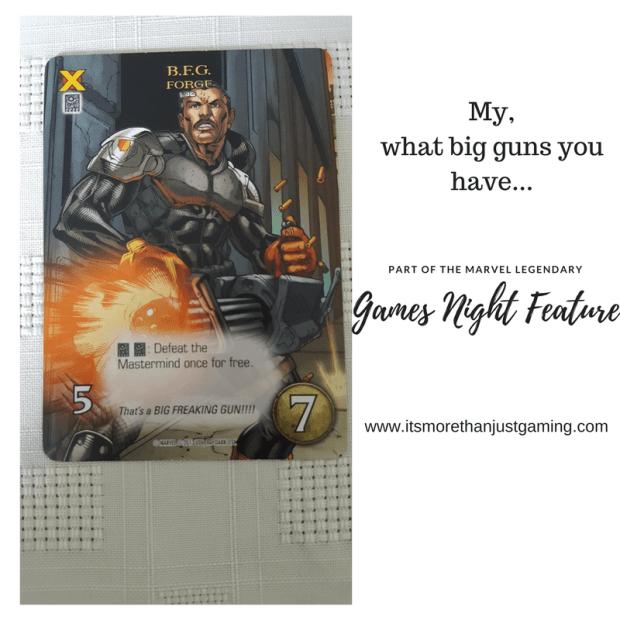The Forge BFG card from Marvel legendary