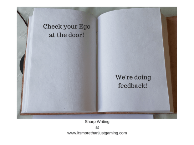 check your ego at the door, we're doing feedback!