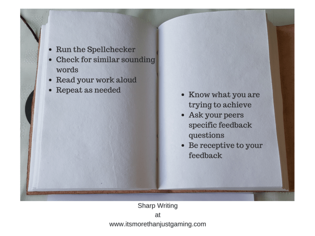 a checklist for editing your work